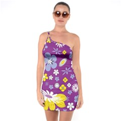 Floral Flowers One Soulder Bodycon Dress