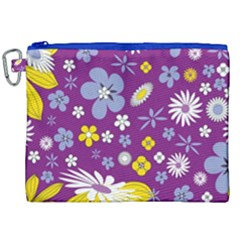Floral Flowers Canvas Cosmetic Bag (xxl)