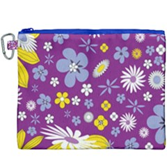 Floral Flowers Canvas Cosmetic Bag (xxxl)