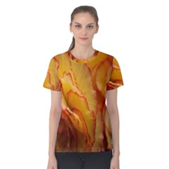 Flowers Leaves Leaf Floral Summer Women s Cotton Tee