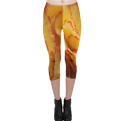 Flowers Leaves Leaf Floral Summer Capri Leggings