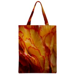Flowers Leaves Leaf Floral Summer Zipper Classic Tote Bag