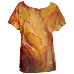 Flowers Leaves Leaf Floral Summer Women s Oversized Tee