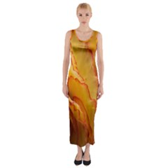 Flowers Leaves Leaf Floral Summer Fitted Maxi Dress
