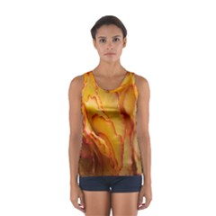 Flowers Leaves Leaf Floral Summer Sport Tank Top