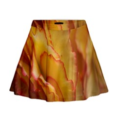 Flowers Leaves Leaf Floral Summer Mini Flare Skirt