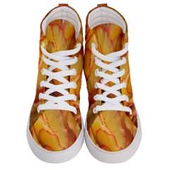 Flowers Leaves Leaf Floral Summer Women s Hi Top Skate Sneakers