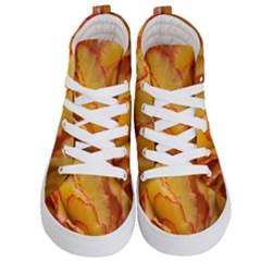 Flowers Leaves Leaf Floral Summer Kid s Hi Top Skate Sneakers