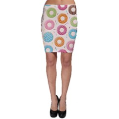 Colored Doughnuts Pattern Bodycon Skirt