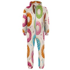 Colored Doughnuts Pattern Hooded Jumpsuit (men)