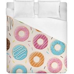Colored Doughnuts Pattern Duvet Cover (california King Size)