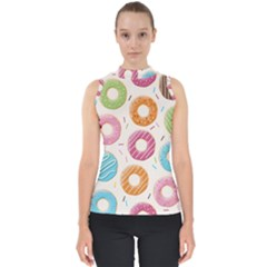 Colored Doughnuts Pattern Shell Top