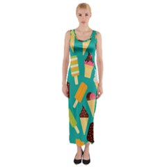 Summer Treats Fitted Maxi Dress