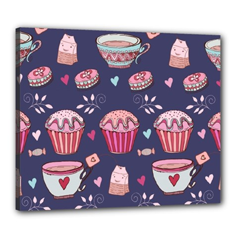 Afternoon Tea And Sweets Canvas 24  X 20