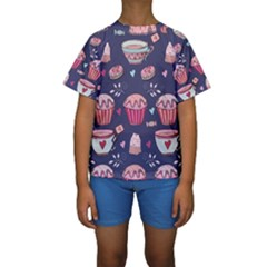 Afternoon Tea And Sweets Kids  Short Sleeve Swimwear