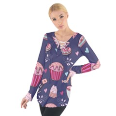 Afternoon Tea And Sweets Tie Up Tee