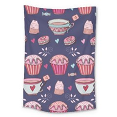Afternoon Tea And Sweets Large Tapestry
