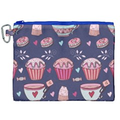 Afternoon Tea And Sweets Canvas Cosmetic Bag (xxl)