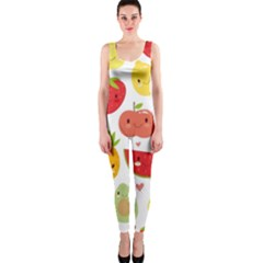 Happy Fruits Pattern Onepiece Catsuit