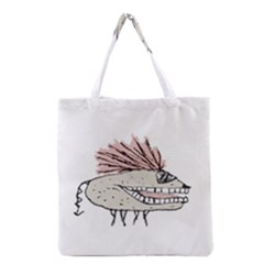Monster Rat Hand Draw Illustration Grocery Tote Bag