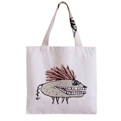 Monster Rat Hand Draw Illustration Zipper Grocery Tote Bag