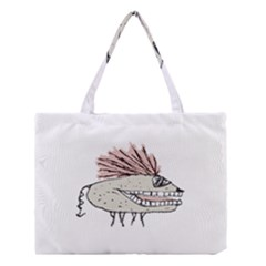 Monster Rat Hand Draw Illustration Medium Tote Bag