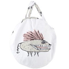 Monster Rat Hand Draw Illustration Giant Round Zipper Tote