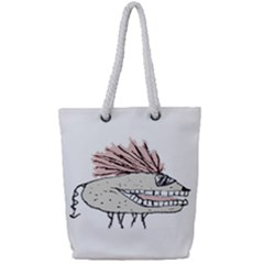 Monster Rat Hand Draw Illustration Full Print Rope Handle Tote (small)