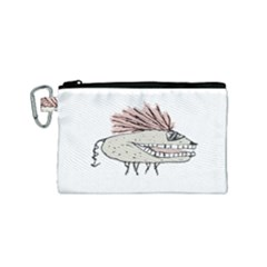 Monster Rat Hand Draw Illustration Canvas Cosmetic Bag (small)