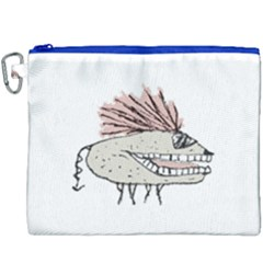Monster Rat Hand Draw Illustration Canvas Cosmetic Bag (xxxl)