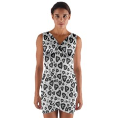 Leopard Heart 02 Wrap Front Bodycon Dress