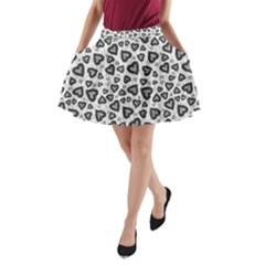Leopard Heart 02 A Line Pocket Skirt