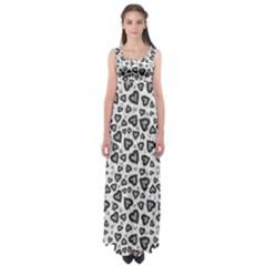 Leopard Heart 02 Empire Waist Maxi Dress