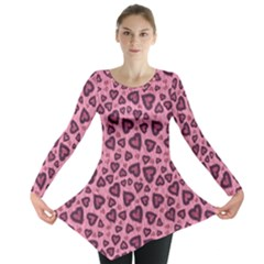 Leopard Heart 03 Long Sleeve Tunic