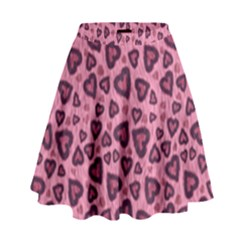 Leopard Heart 03 High Waist Skirt