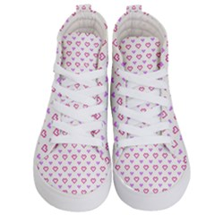 Pixel Hearts Kid s Hi Top Skate Sneakers