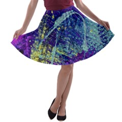 Ink Splash 01 A Line Skater Skirt