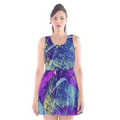 Ink Splash 01 Scoop Neck Skater Dress