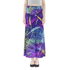 Ink Splash 01 Full Length Maxi Skirt