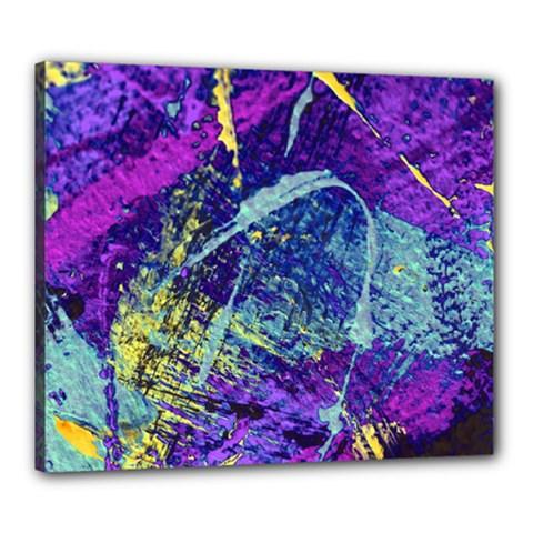 Ink Splash 01 Canvas 24  X 20