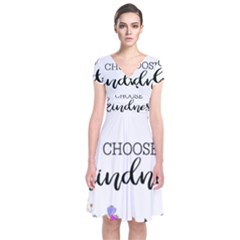 Choose Kidness Short Sleeve Front Wrap Dress