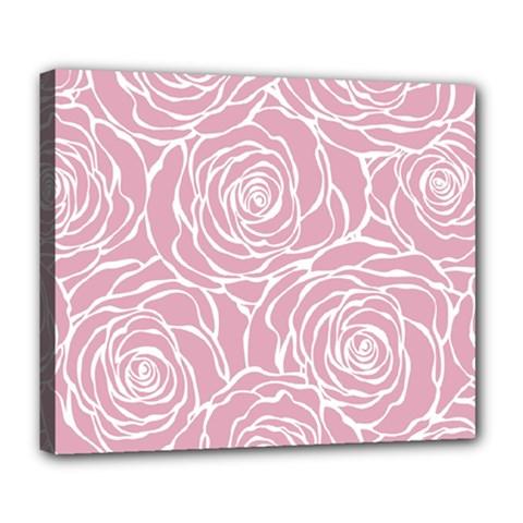 Pink Peonies Deluxe Canvas 24  X 20
