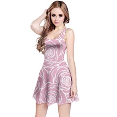 Pink Peonies Reversible Sleeveless Dress
