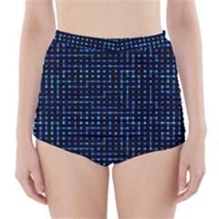 Sci Fi Tech Circuit High Waisted Bikini Bottoms