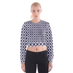 Kaleidoscope Tiles Cropped Sweatshirt