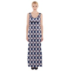 Kaleidoscope Tiles Maxi Thigh Split Dress
