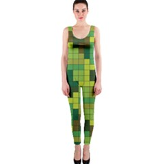 Tetris Camouflage Forest Onepiece Catsuit