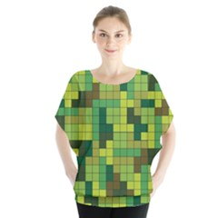 Tetris Camouflage Forest Blouse