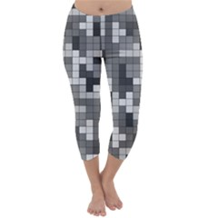 Tetris Camouflage Urban Capri Winter Leggings
