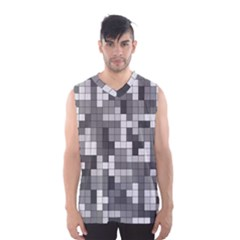 Tetris Camouflage Urban Men s Basketball Tank Top